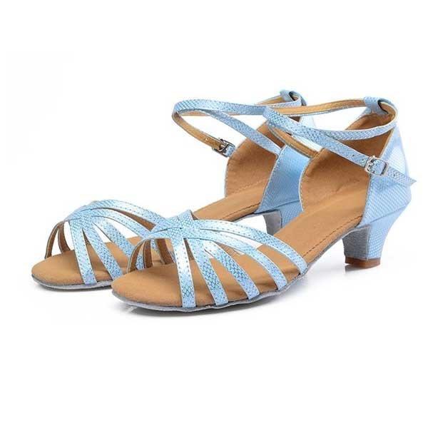 5Cgo【鴿樓】會員有優惠  38205165772 拉丁舞鞋女兒童舞蹈鞋少兒跳舞鞋兒童跳舞鞋女士拉丁舞鞋中跟
