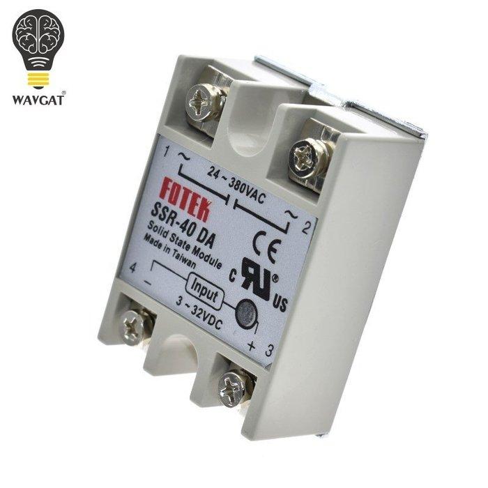 電子科技店~SSR-40DA單相固態繼電器SSR-10DA 直流控交流SSR-25DA50DA