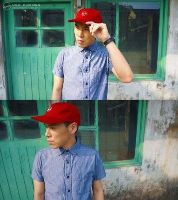 SIGHT Clothing l CMYK透氣硬挺六片帽 棒球帽 Mad Red紅 l 台灣日本英國原創限定