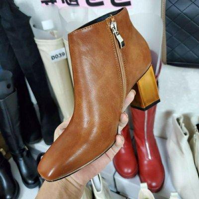☆╮街頭教主。 直播爆款正韓高品質踝靴 短靴 機車靴 高跟騎士靴