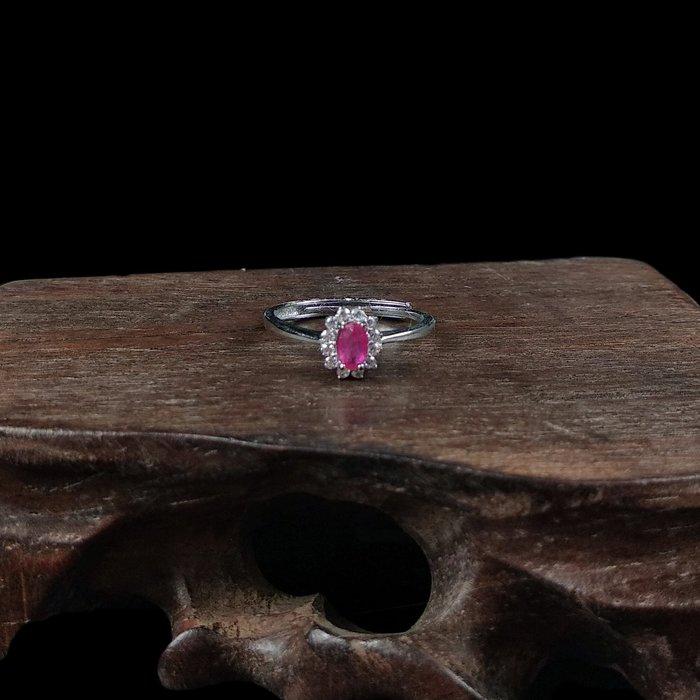 《博古珍藏》925純銀鑲紅寶石戒指.戒子飾品配件(璀璨款).求婚訂婚情人節禮盒禮物.附包裝盒.底價回饋