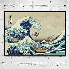 機器貓浮世繪東海道程創意卡通兒童家居店面禮品樣板房裝飾畫(4款可選)