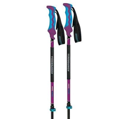 美國代購 Komperdell Carbon Descent 碳纖維登山杖 潮流配色 藍紫色 其他款式品牌可詢問報價