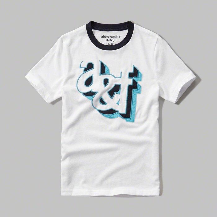 美國百分百【Abercrombie & Fitch】T恤 AF 短袖 麋鹿 kids 女 男 XS S號 白色 G534
