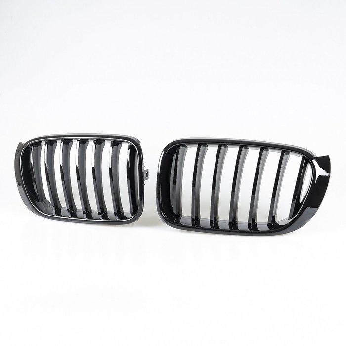 [亮黑] 水箱罩鼻頭格柵 寶馬BMW X3 F25 LCI X4 F26用 2014-2017年式適用/汽車外飾交換件