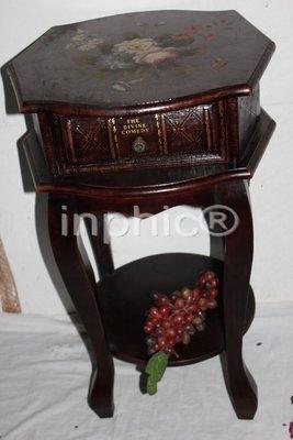 INPHIC-歐式古典風格家居裝飾品 木質書型傢俱 彩繪櫃子 仿舊花架