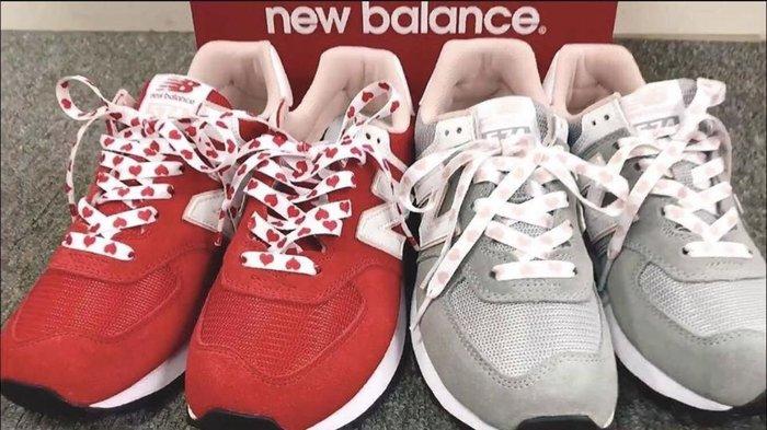 【Cheers】NEW BALANCE 574 情人節 紅白色WL574VDR 女鞋 愛心鞋帶 灰色WL574VDG