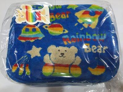 日本製 彩虹熊Rainbow Bea r側背包/肩背包/收納包/小提包/斜背包 藍色