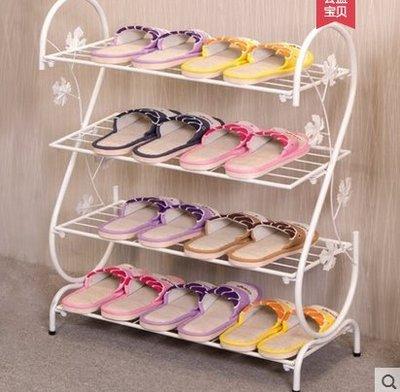 『格倫雅』鞋架間易家用多層間約現代經濟型鐵藝宿舍拖鞋架子收納小鞋架鞋櫃^7690