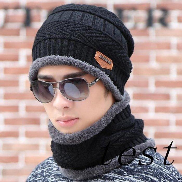 冬季男士帽子韓版潮時尚毛線帽保暖針織冬天防寒棉帽青年戶外騎車 時尚