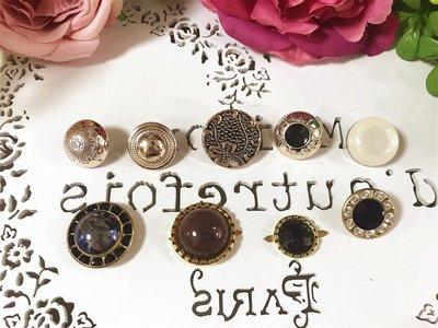 心意婚品店 ♡ 10元釦子 ♡ 飾品材料 創作小物 項鍊飾品 衣服裝飾 DIY胸針 DIY飾品 珠寶手捧花 鈕釦
