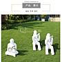 戶外抽象人物讀書人雕塑學校園林景觀草坪裝飾造景天使閱讀者擺件小豬佩奇