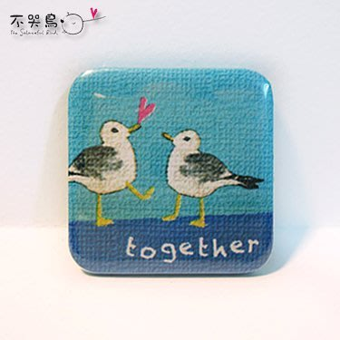 飾品 配件 *徽章 方形-together*不哭鳥