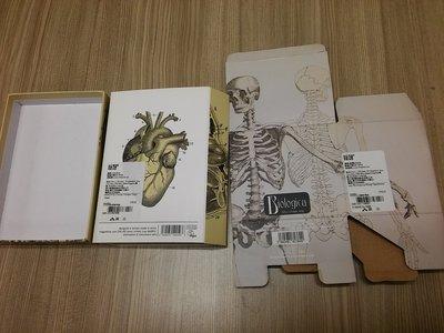 Magpie Trinket Tray 人骨臟器組織設計的包裝紙盒3種合售