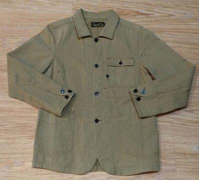 保證正品日本製美式復古強牌LOST CONTROL 工裝ENGINEERS JACKET土黃卡其色帆布多口袋鐵道工作外套
