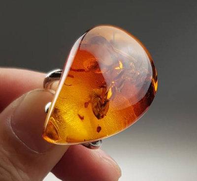 鳳崗文創---{雜項94}---琥珀戒指—主石尺寸約:3.3*2.3*1cm