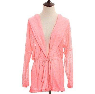 夏季購物優惠: 買5送1@夏日薄款LYCRA系帶防曬外套 NO:02 西瓜紅色 $70/件