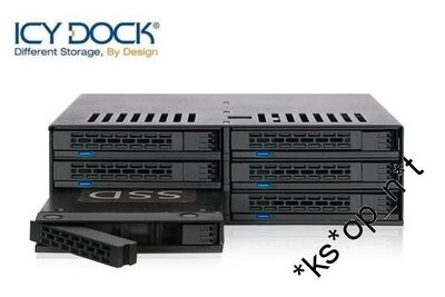 "{MPower} 台灣名廠 ICY Dock MB326SP-B 6 Bay 2.5"" SAS, SATA HDD Mobile Rack ( 內置風扇 ) - 原裝行貨"