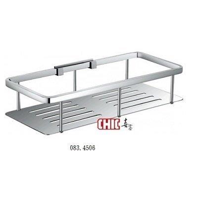 《晶懋生活網》SUS304不銹鋼亮面四方型置物架  CHIC 喜客083.4506  浴室置物架