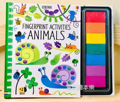 現貨《童玩繪本樂》英國代購Usborne Fingerprint Activities 手指拓印 書 交換禮物 手指畫