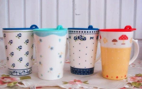 蘇菲亞精品傢飾~Zakka風鄉村風陶瓷附蓋馬克杯隨手杯/2款