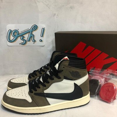 【老鞋頭】 Travis Scott x Jordan 1 Backwards Swoosh 倒勾 聯名 棕 CD448