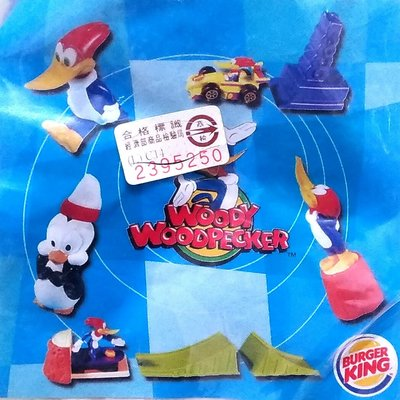 《NATE》收藏早期BURGER KING漢堡王玩具【2000-啄木鳥伍迪WOODY WOODPECKER】5款一組