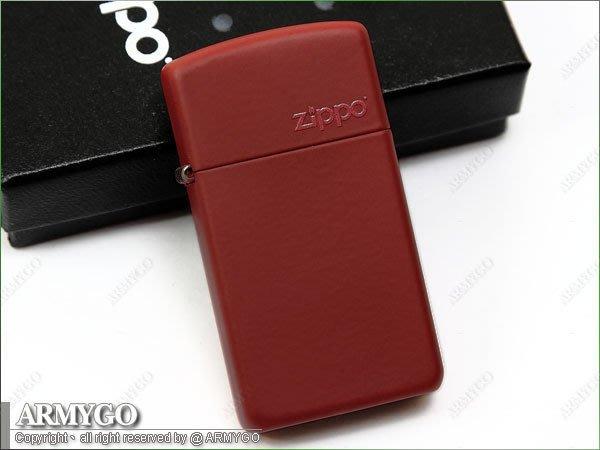 【ARMYGO】ZIPPO原廠打火機-紅拷漆(窄版) No.1633 ZL