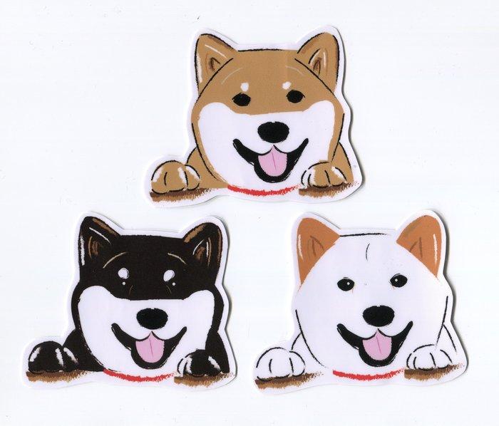 小飯糰 柴柴大型防水貼紙 哈囉柴 柴犬 行李箱貼紙