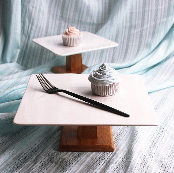方形甜點盤-婚宴食物展示架 蛋糕盤 甜品盤  高腳盤 蛋糕展示盤(8吋)_☆找好物FINDGOODS☆