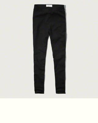 Maple麋鹿小舖 Abercrombie&Fitch * AF 黑色高腰素面內搭褲 * ( 現貨S號 )