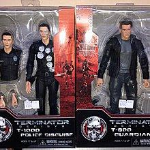 Neca 未來戰士 Terminator Genisys T-800 Guardian T-1000 police disguise figure C926