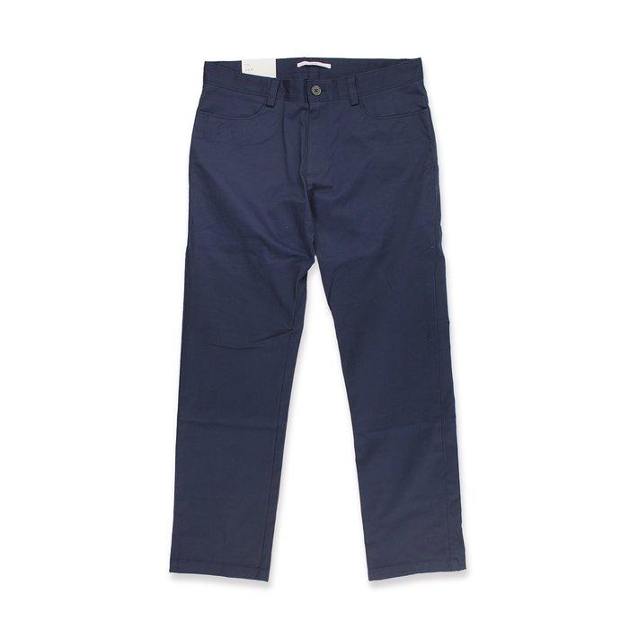 美國百分百【全新真品】Calvin Klein 休閒褲 CK 長褲 褲子 合身直筒 男 深藍 30 32腰 I549