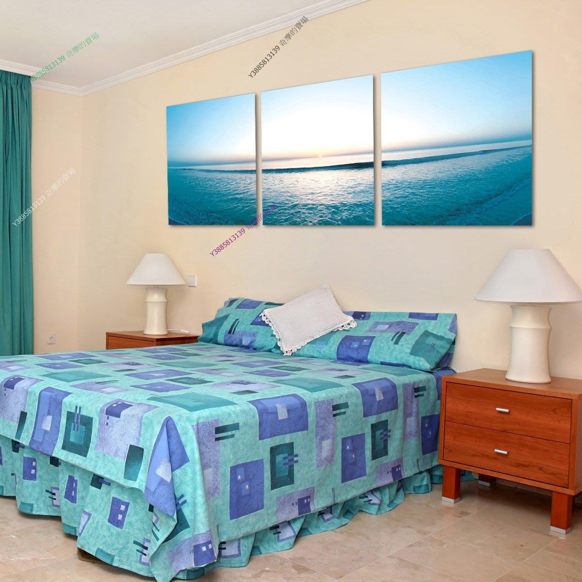 【40*40cm】【厚0.9cm】大海風景畫-無框畫裝飾畫版畫客廳簡約家居餐廳臥室【280101_425】(1套價格)
