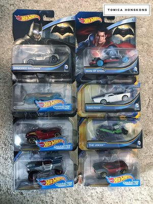 Hot Wheels| DC Comics (Armored Batman / Man of Steel/ The Joker/Two Face)| set