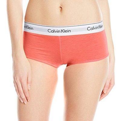 全新真品 CK Calvin Klein 經典運動風寬版平口內褲-橘 M