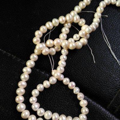 天然淡水珍珠散珠8mm螺紋異型珍珠圓珠 DIY手鍊項鍊配件材料