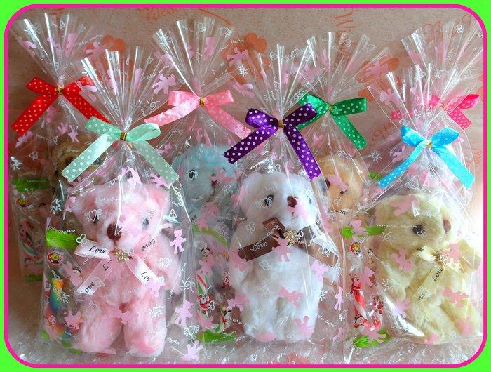 #歡樂時光泰迪熊+水果糖~結婚禮小物~二次進場~聖誕節~生日禮物~情人節~幼稚園畢業~5吋關節熊