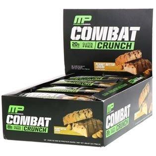 ☆阿Su倉庫☆MusclePharm Combat Crunch MP高蛋白營養棒 63克 每條20克蛋白質 每盒12條