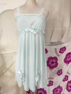 ∮紫o°免稅店°o╭* ○ 蕾絲高質感滑布背心開岔內睡衣○