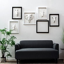 〖洋碼頭〗歐式個性動物頭飾壁飾牆面軟裝飾品掛件奶茶店咖啡店餐館創意壁掛 fjs345