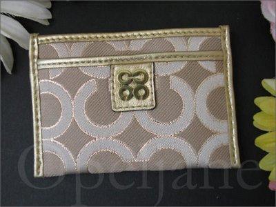 Coach 46808 Card Case 金色名片夾信用卡車票夾名片夾悠遊卡夾套 免運費 愛Coach包包