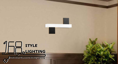 【168 Lighting】黑白矩方《LED壁燈》GE 81123-2