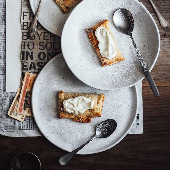 MAJPOINT*盤 碟 粗陶瓷 日式 不規則 餐盤 簡約 攝影 美器 野餐派對 廚房餐具 西餐 點心甜點 托盤 烘焙