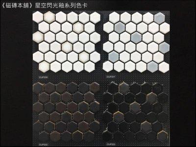《磁磚本舖》風潮系列 六角馬賽克 亮面平光面混貼 質感佳 2.3X2.3公分 主牆設計