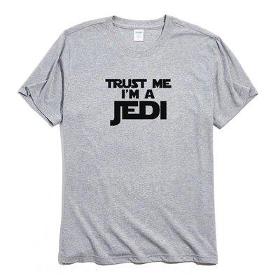 Trust me i'm a Jedi 短袖T恤 2色 趣味幽默文字相信我我是黑武士星際大戰