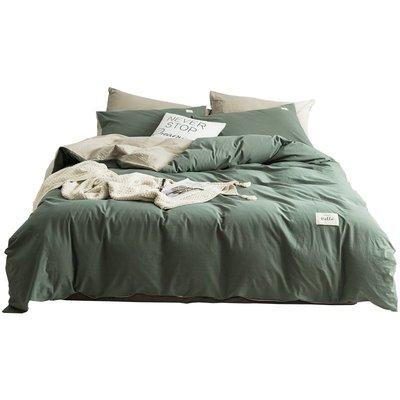 床單 ins北歐水洗純棉四件套100全棉夏季床單床笠被套3宿舍床上三件套4