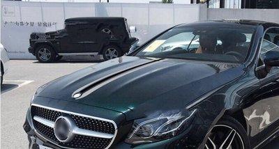 D-703 寶馬 賓士 專用車貼 汽車貼紙拉花 BMW BENZ 引擎蓋貼 運動條紋貼 車身裝飾貼 BK材質 全白全藍