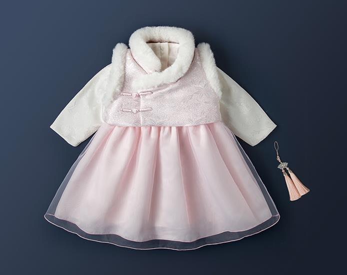 紫滕戀推出女童漢服秋冬裝寶寶周歲衣服抓周禮服連衣裙古風嬰兒童唐裝拜年服