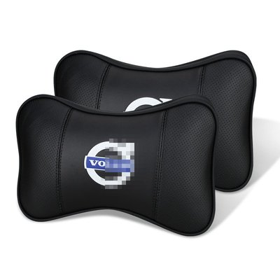 VOLVO S80 S60 XC60 V60 V40 XC90 汽車用真皮頭枕 富豪 護頸枕 靠枕 四季通用 1對
